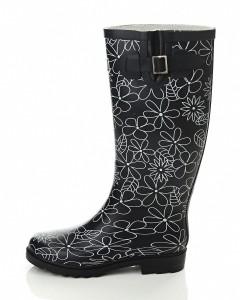 billig gummistøvle med blomster