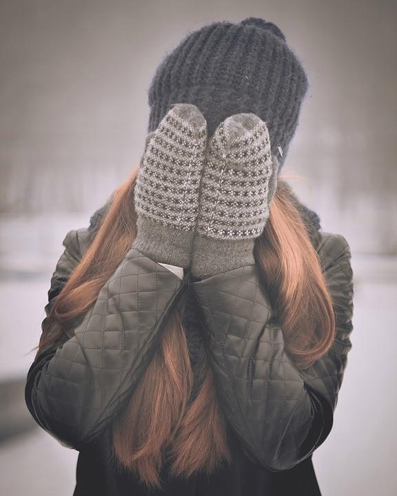 Kvinde med vintertøj